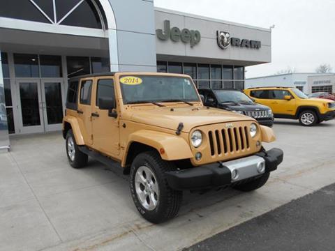 2014 Jeep Wrangler Unlimited for sale in Greenville MI