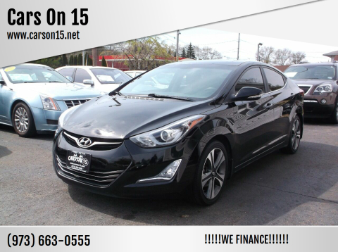 2014 Hyundai Elantra for sale at Cars On 15 in Lake Hopatcong NJ