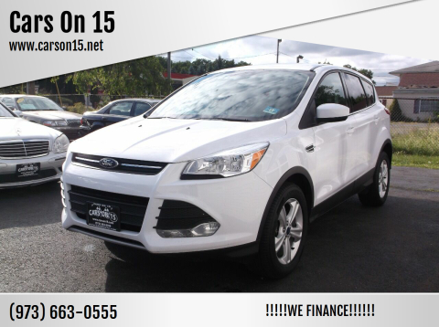 2015 Ford Escape for sale at Cars On 15 in Lake Hopatcong NJ