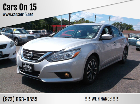 2016 Nissan Altima for sale at Cars On 15 in Lake Hopatcong NJ