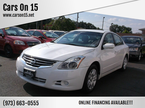 2012 Nissan Altima for sale at Cars On 15 in Lake Hopatcong NJ