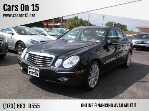 2008 Mercedes-Benz E-Class for sale at Cars On 15 in Lake Hopatcong NJ