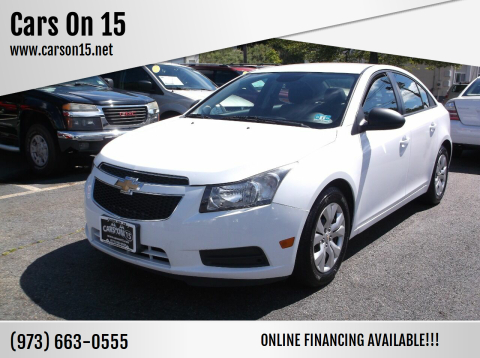 2013 Chevrolet Cruze for sale at Cars On 15 in Lake Hopatcong NJ