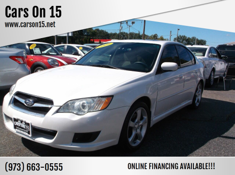 2009 Subaru Legacy for sale at Cars On 15 in Lake Hopatcong NJ
