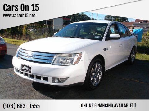 2008 Ford Taurus for sale at Cars On 15 in Lake Hopatcong NJ