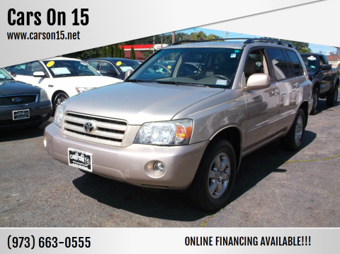 2006 Toyota Highlander for sale at Cars On 15 in Lake Hopatcong NJ