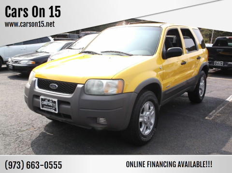 2001 Ford Escape for sale at Cars On 15 in Lake Hopatcong NJ