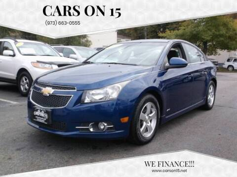 2012 Chevrolet Cruze for sale at Cars On 15 in Lake Hopatcong NJ