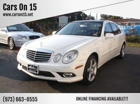 2009 Mercedes-Benz E-Class for sale at Cars On 15 in Lake Hopatcong NJ