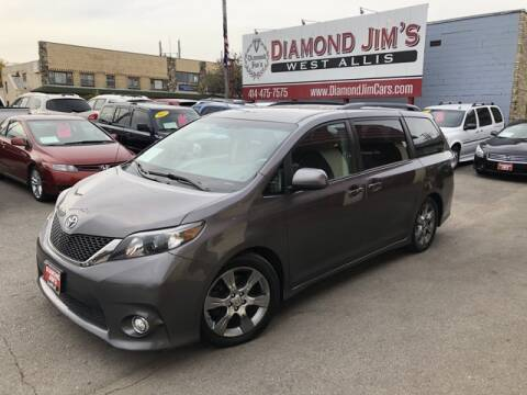 2012 Toyota Sienna for sale at Diamond Jim's West Allis in West Allis WI