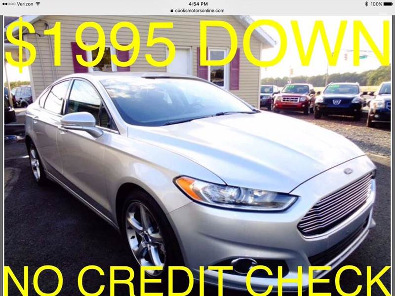 2013 Ford Fusion for sale at Cooks Motors in Westampton NJ
