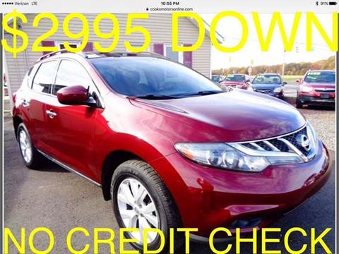 2012 Nissan Murano for sale at Cooks Motors in Westampton NJ