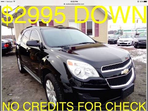 2011 Chevrolet Equinox for sale at Cooks Motors in Westampton NJ