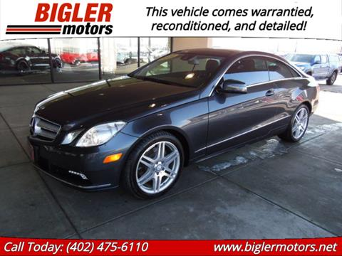 Mercedes Lincoln Ne >> 2010 Mercedes Benz E Class For Sale In Lincoln Ne