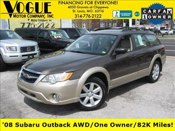 2008 Subaru Outback for sale at Vogue Motor Company Inc in Saint Louis MO