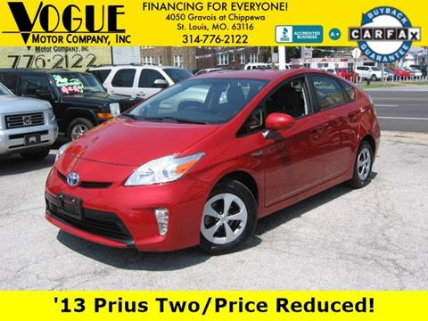 2013 Toyota Prius for sale at Vogue Motor Company Inc in Saint Louis MO