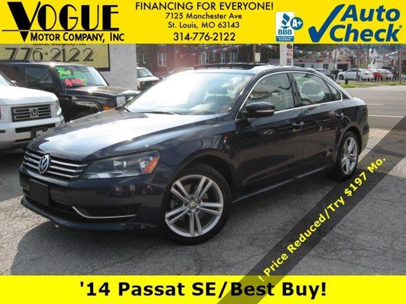 2014 Volkswagen Passat for sale at Vogue Motor Company Inc in Saint Louis MO
