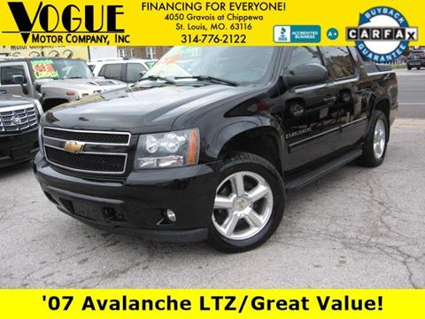 2007 Chevrolet Avalanche for sale at Vogue Motor Company Inc in Saint Louis MO