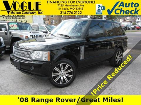 2008 Land Rover Range Rover for sale at Vogue Motor Company Inc in Saint Louis MO