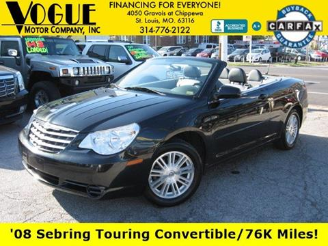 2008 Chrysler Sebring for sale at Vogue Motor Company Inc in Saint Louis MO
