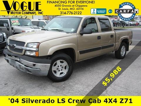 2004 Chevrolet Silverado 1500 for sale at Vogue Motor Company Inc in Saint Louis MO