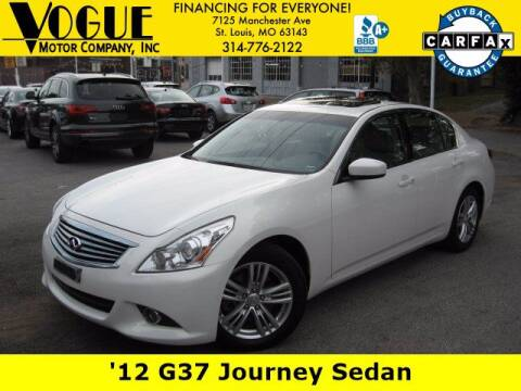2012 Infiniti G37 Sedan for sale at Vogue Motor Company Inc in Saint Louis MO