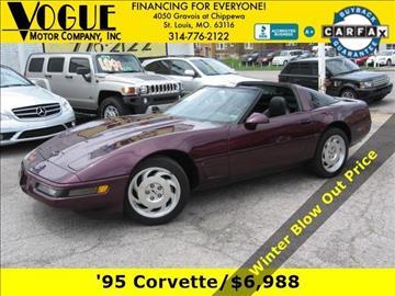 1995 Chevrolet Corvette for sale at Vogue Motor Company Inc in Saint Louis MO