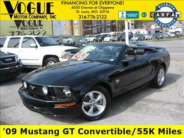 2009 Ford Mustang for sale at Vogue Motor Company Inc in Saint Louis MO
