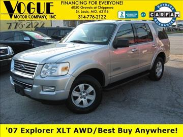 2007 Ford Explorer for sale at Vogue Motor Company Inc in Saint Louis MO