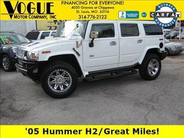 2005 HUMMER H2 for sale at Vogue Motor Company Inc in Saint Louis MO
