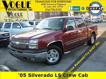 2005 Chevrolet Silverado 1500 for sale at Vogue Motor Company Inc in Saint Louis MO