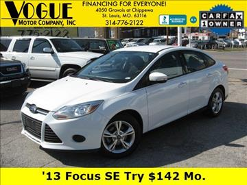 2013 Ford Focus for sale at Vogue Motor Company Inc in Saint Louis MO