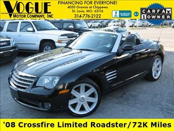 2008 Chrysler Crossfire for sale at Vogue Motor Company Inc in Saint Louis MO