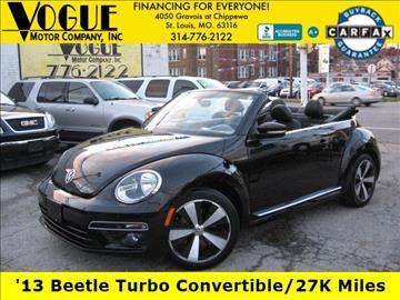 2013 Volkswagen Beetle for sale at Vogue Motor Company Inc in Saint Louis MO