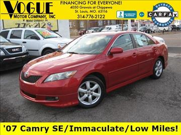 2007 Toyota Camry for sale at Vogue Motor Company Inc in Saint Louis MO