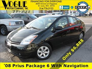 2008 Toyota Prius for sale at Vogue Motor Company Inc in Saint Louis MO