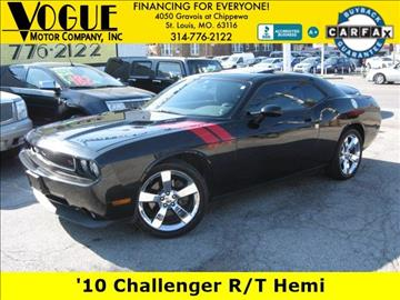2010 Dodge Challenger for sale at Vogue Motor Company Inc in Saint Louis MO