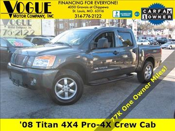 2008 Nissan Titan for sale at Vogue Motor Company Inc in Saint Louis MO