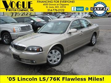 2005 Lincoln LS for sale at Vogue Motor Company Inc in Saint Louis MO