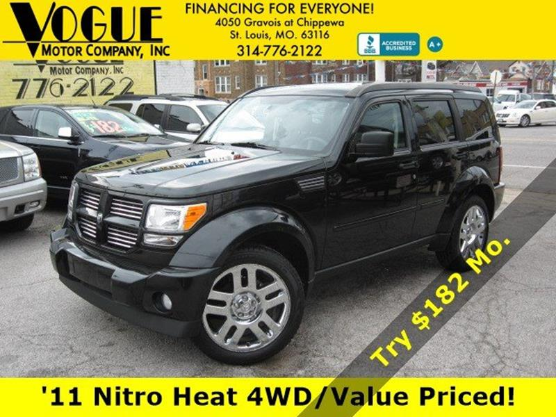 2011 Dodge Nitro for sale at Vogue Motor Company Inc in Saint Louis MO