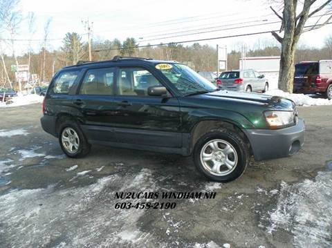 2005 Subaru Forester for sale at Nu2u Cars in Windham NH