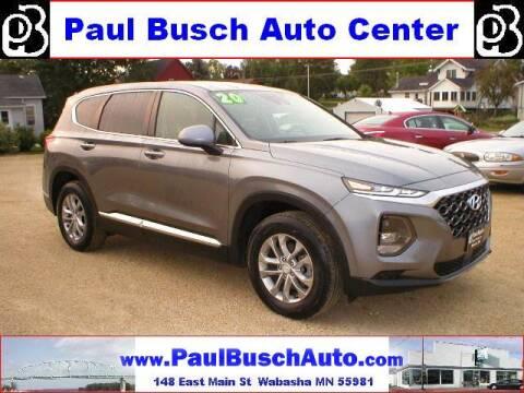 2020 Hyundai Santa Fe for sale at Paul Busch Auto Center Inc in Wabasha MN
