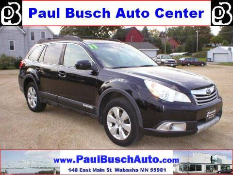 2011 Subaru Outback for sale at Paul Busch Auto Center Inc in Wabasha MN