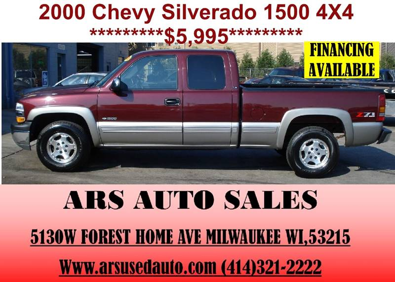 2000 chevrolet silverado 1500 3dr ls 4wd extended cab sb in milwaukee wi ars auto sales llc. Black Bedroom Furniture Sets. Home Design Ideas