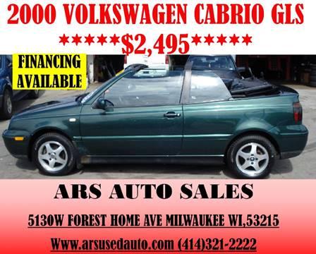 2000 Volkswagen Cabrio for sale in Milwaukee, WI