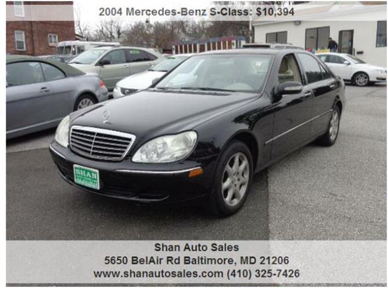 2004 Mercedes Benz S Class S500 4MATIC AWD 4dr Sedan   Baltimore MD
