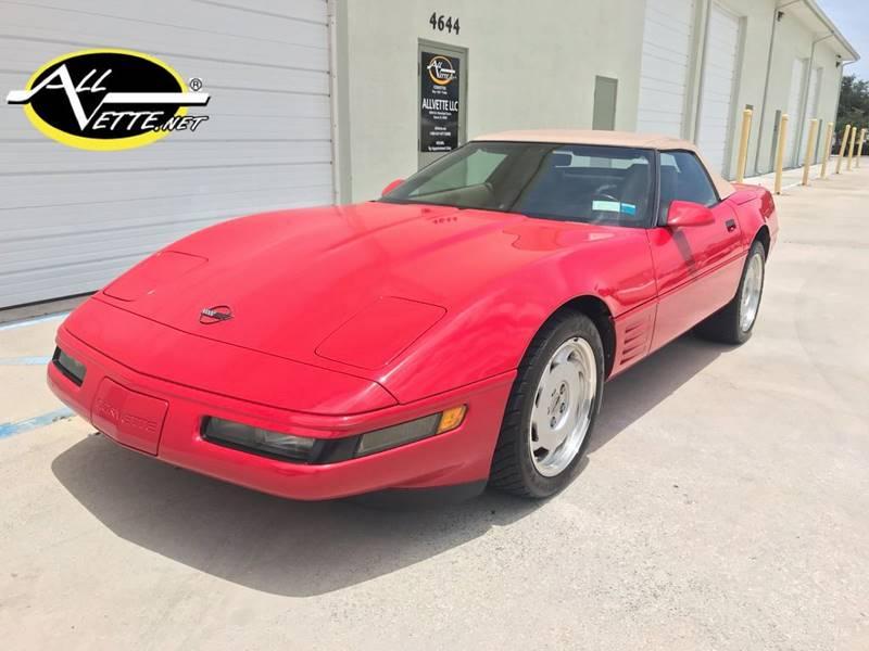 1992 Chevrolet Corvette for sale at AllVette LLC in Stuart FL
