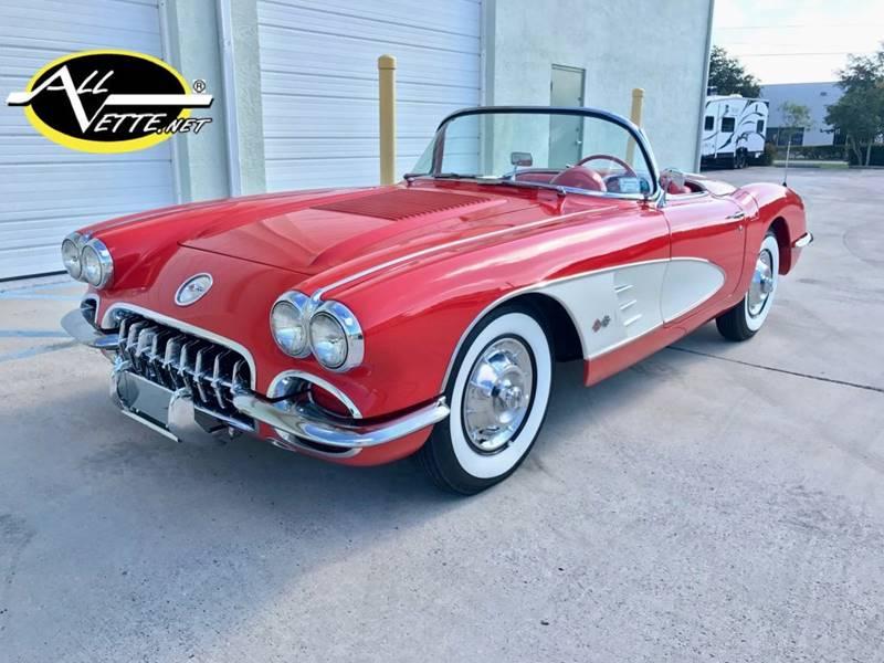1958 Chevrolet Corvette for sale at AllVette LLC in Stuart FL