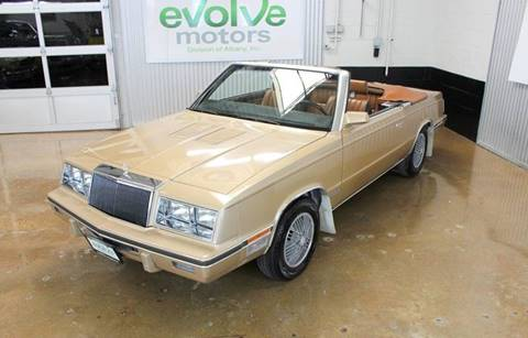 1984 Chrysler Le Baron for sale at Evolve Motors in Chicago IL