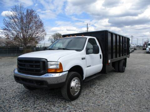 2001 Ford F550 15ft Dump Bed for sale at BJ'S COMMERCIAL TRUCKS in Spokane Valley WA